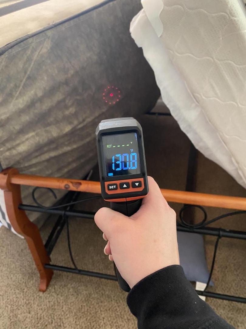 mattress temperature check during heat treatment